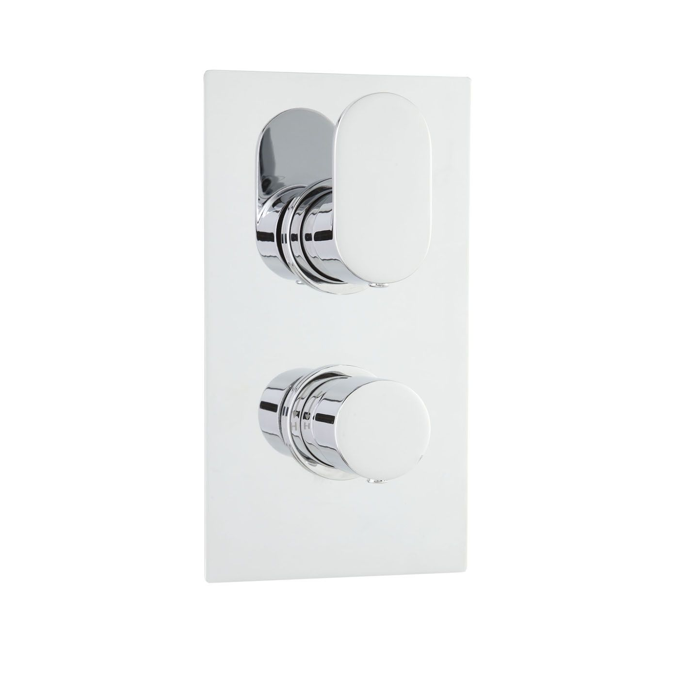 Ratio Concealed Thermostatic Twin Shower Faucet Valve 1 Outlet Option