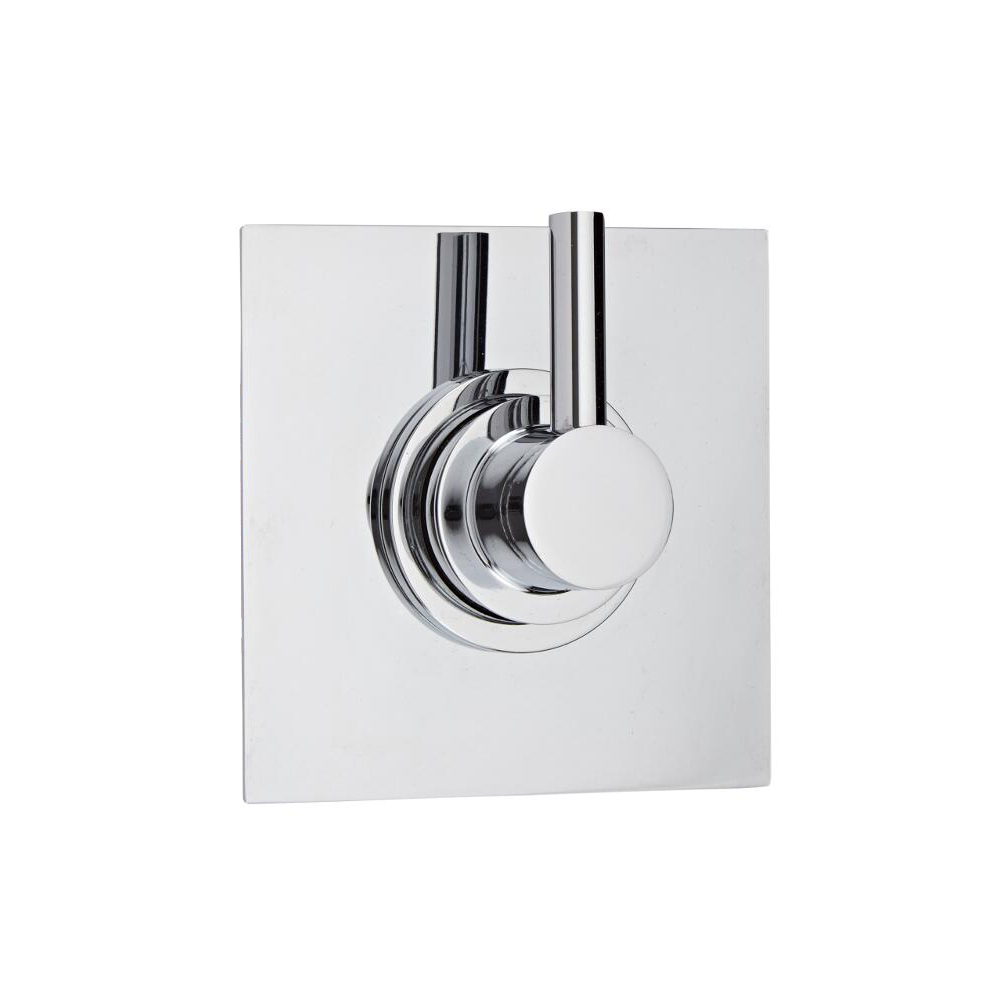3-Way Diverter Shower Valve with Square Plate and Modern Lever Handle