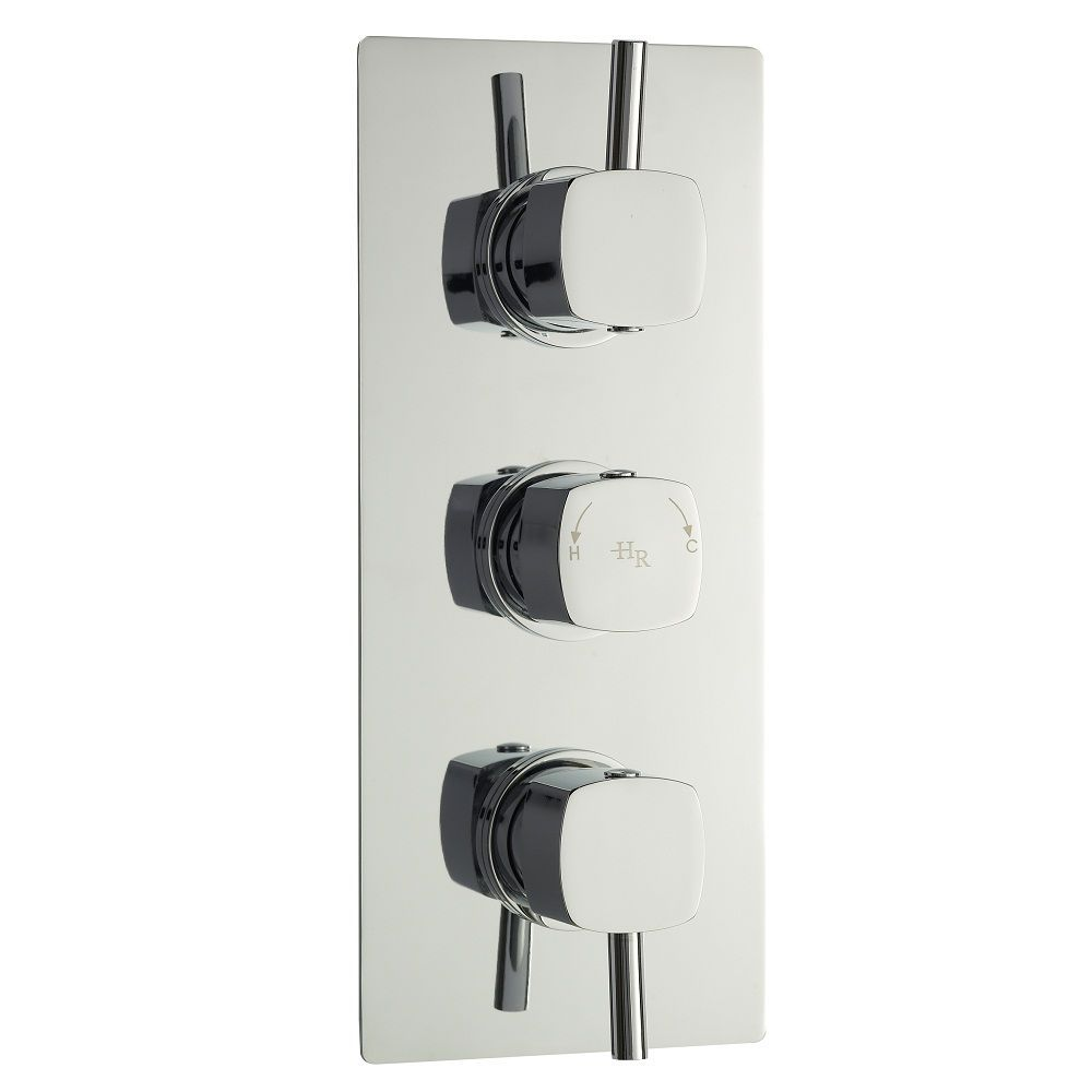 Kia/Jule Triple Concealed Thermostatic Shower Faucet Valve with Built-in Diverter 3 Outlet Options