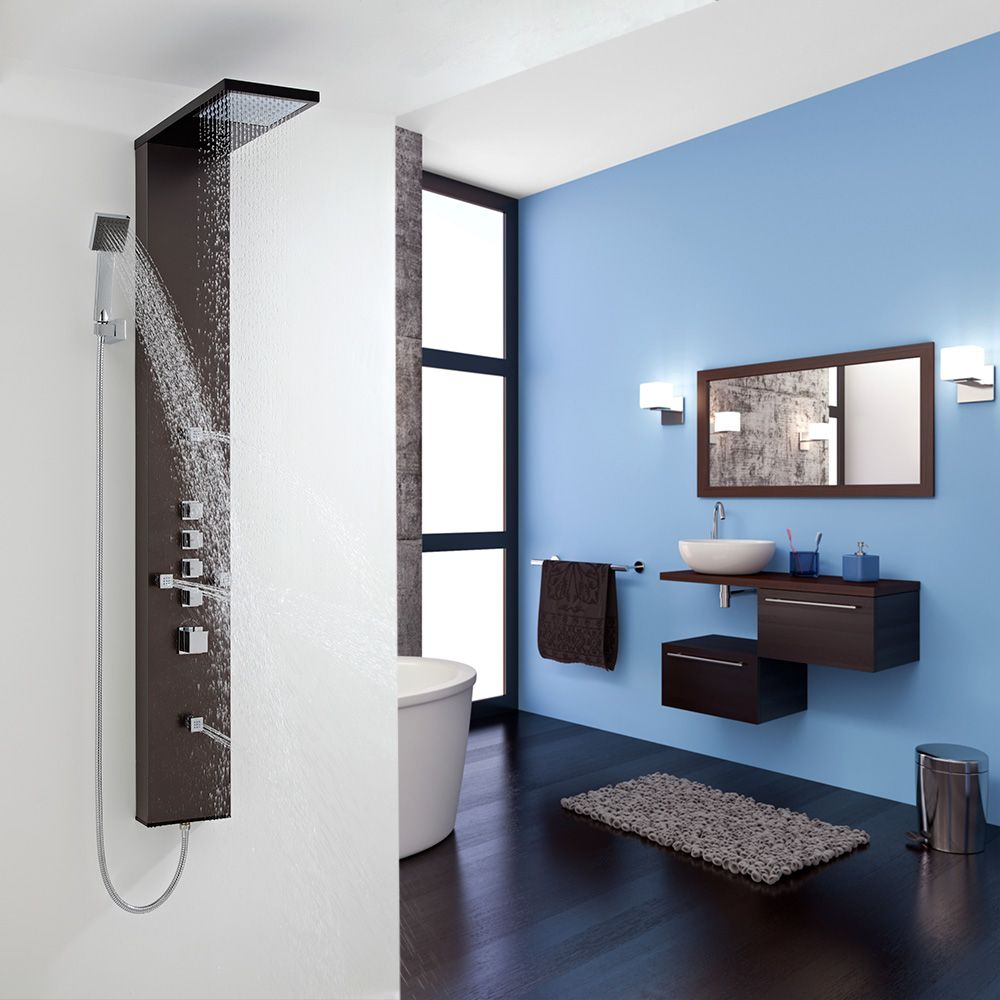 Mistral Thermostatic Shower Panel with 4 Body Jets