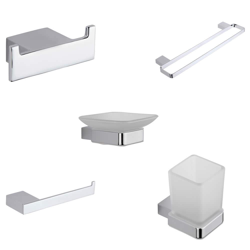 Parade Chrome 5-Piece Bathroom Accessory Set