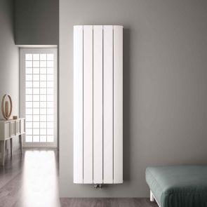 """Aurora - White Aluminum Vertical Designer Radiator - 70.75"""" x 18.5"""""""