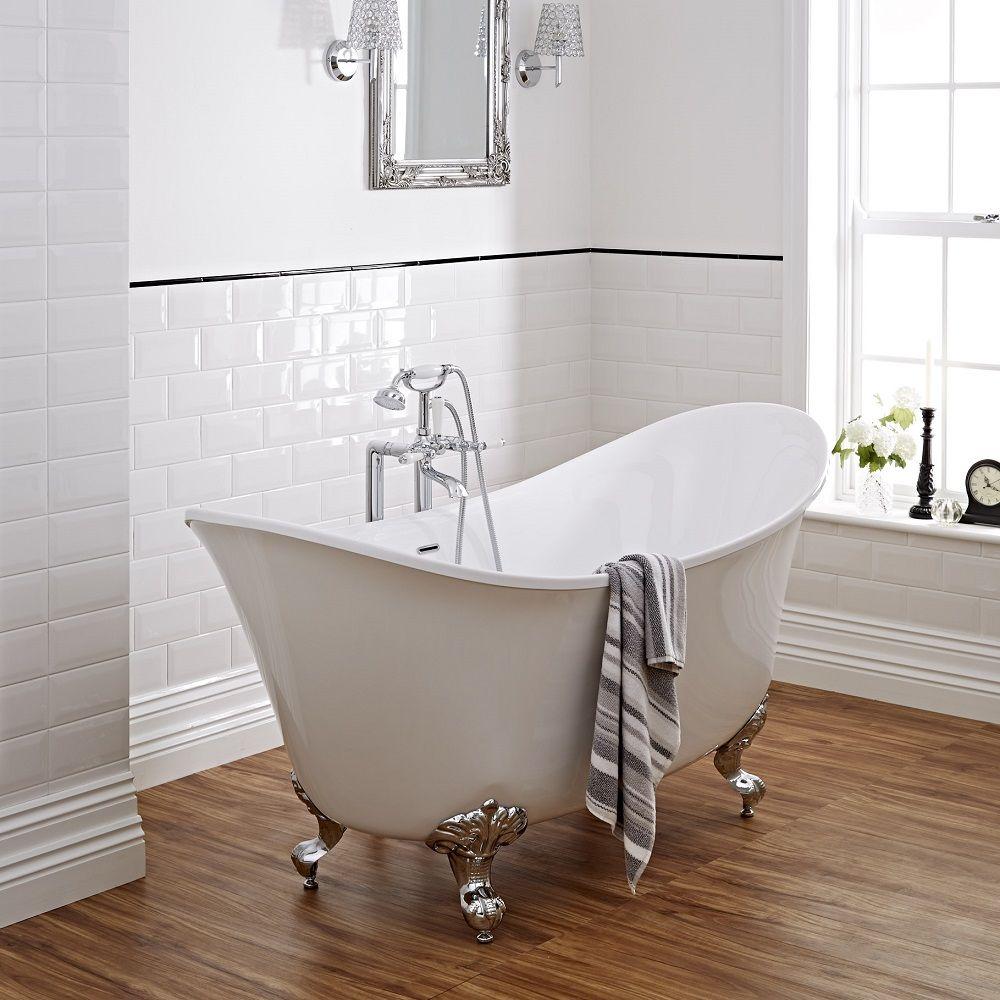 Acrylic Double Ended Freestanding Bath Tub 70\