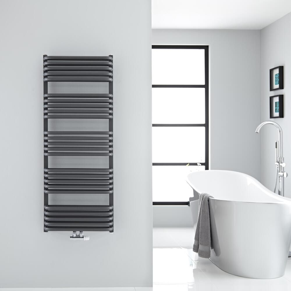 Arch - Anthracite Hydronic Heated Towel Warmer - 50\