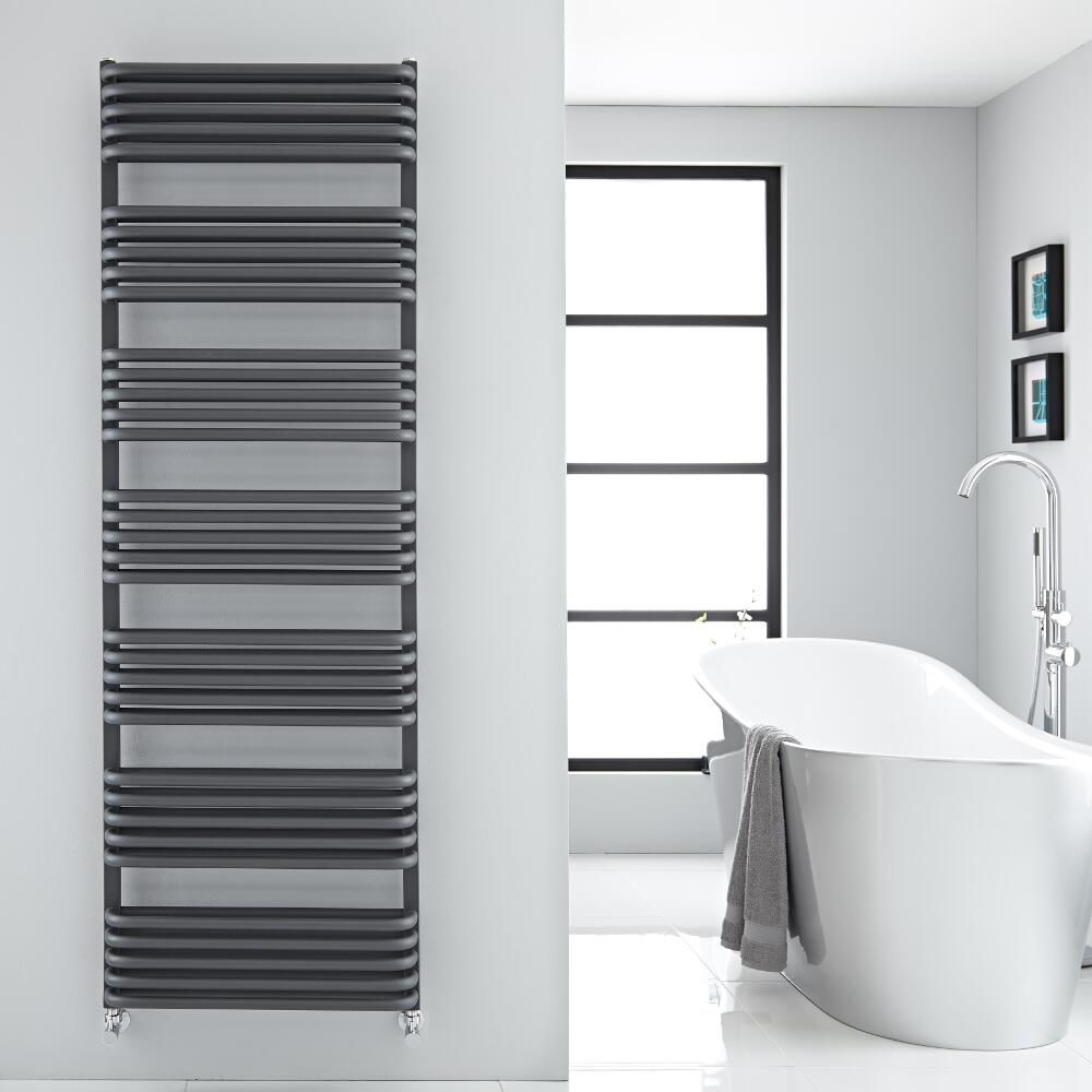 Arch - Anthracite Hydronic Heated Towel Warmer - 70.75\