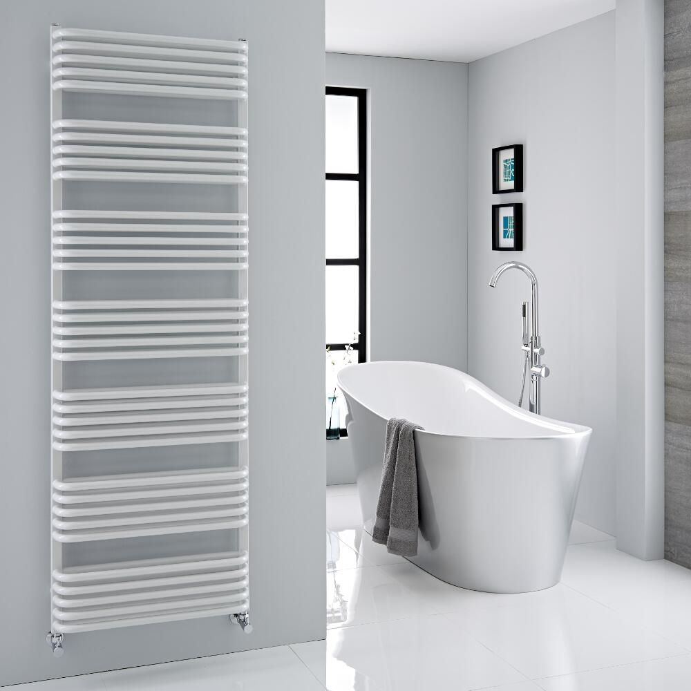 Arch - White Hydronic Heated Towel Warmer - 70.75\