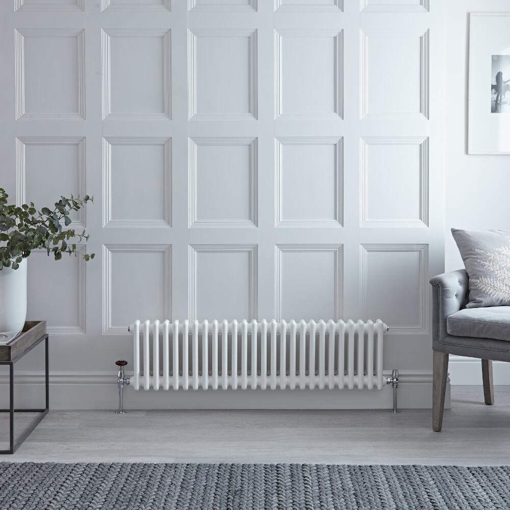 Regent - White Horizontal 2-Column Traditional Cast-Iron Style ...