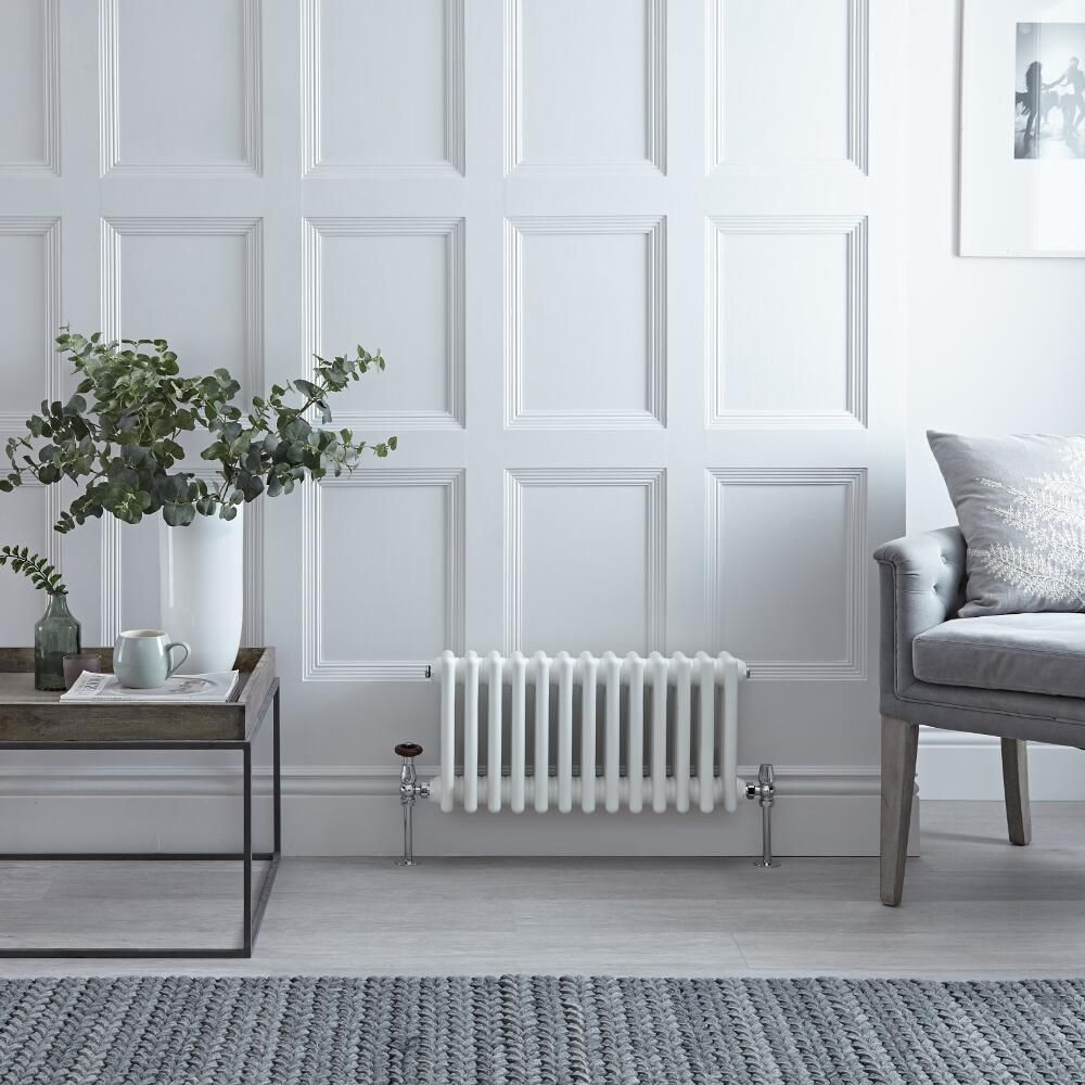 Regent - White Horizontal 2-Column Traditional Cast-Iron Style ...