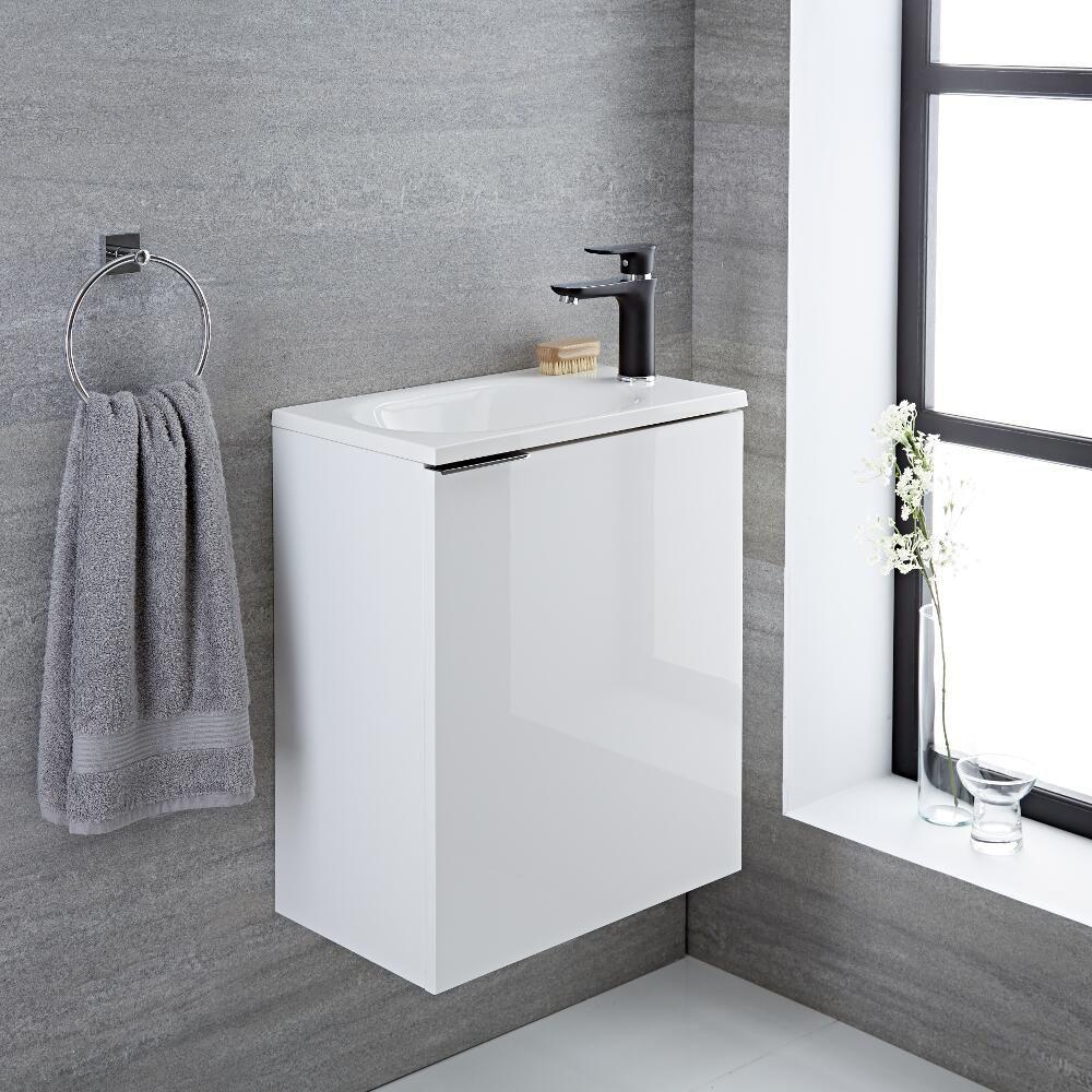 Randwick - 20\'\' White Wall-Mount Bathroom Vanity