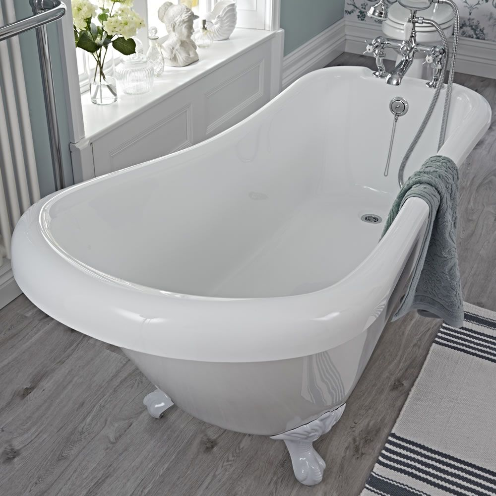 Traditional Acylic Freestanding Slipper Bath Tub 65\