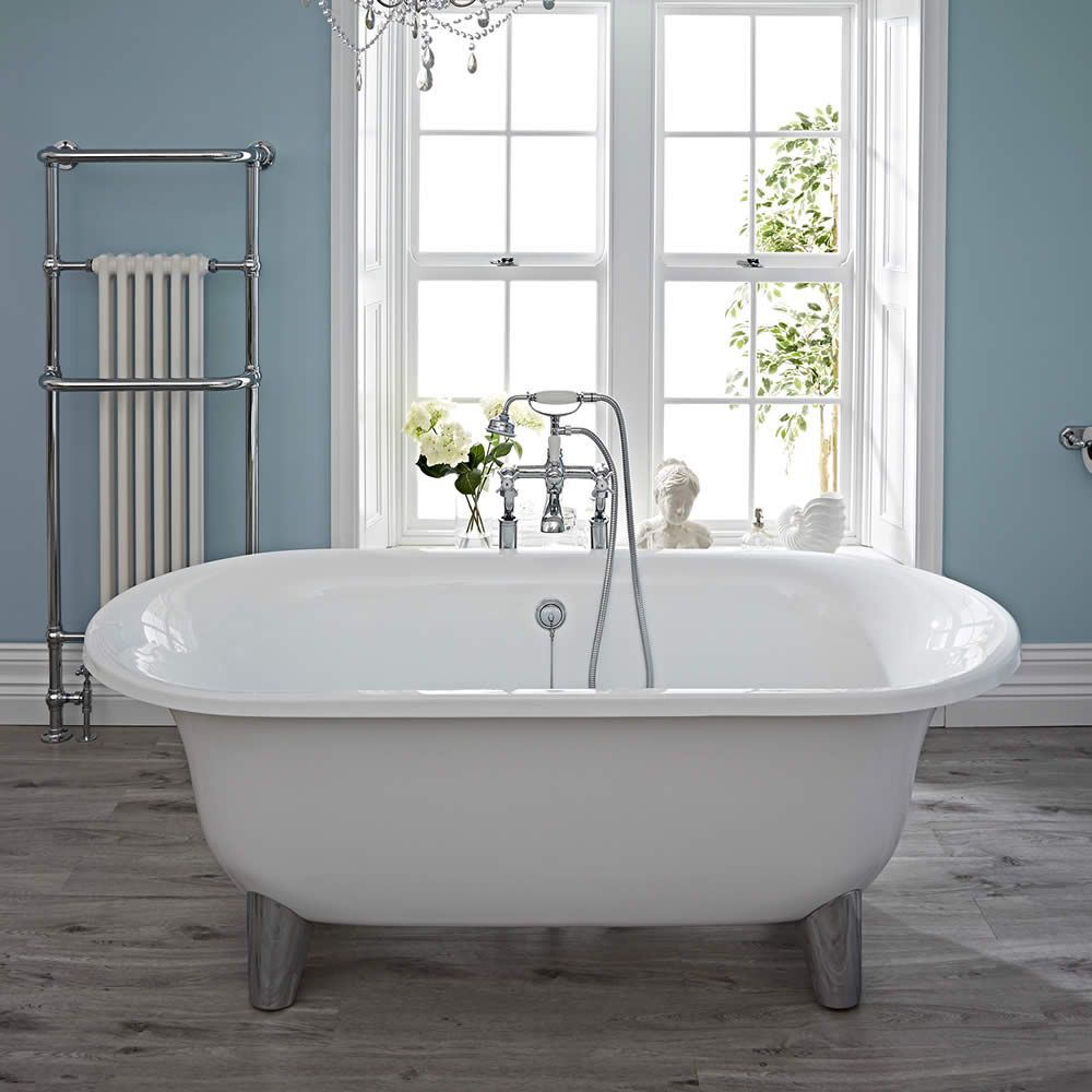 Acrylic Oval Shaped Free Standing Bath Tub with Choice of ...