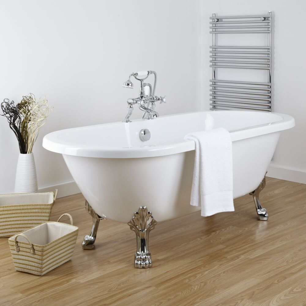 Acrylic Double Ended Freestanding Flat Top Bath Tub 70\
