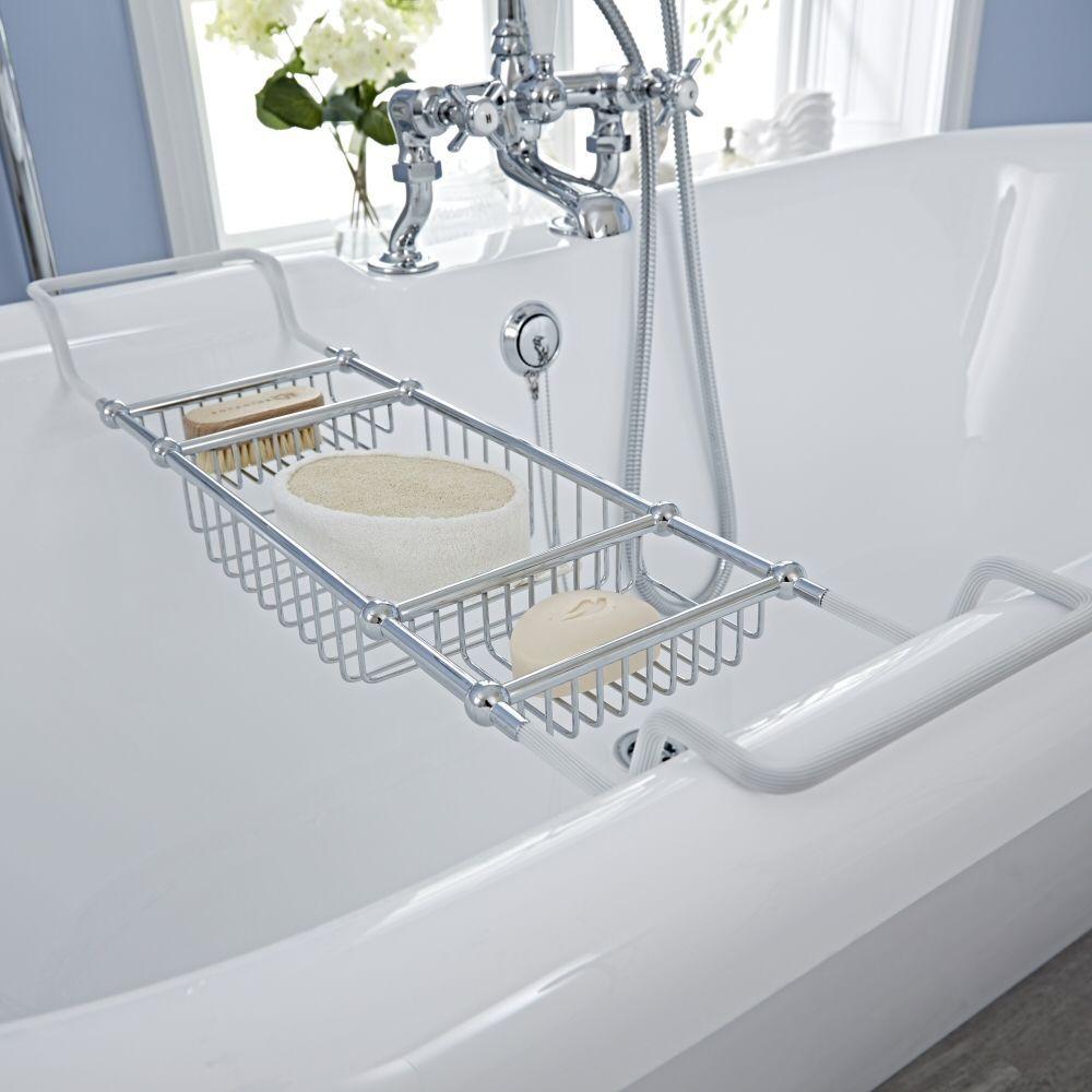 Adjustable Bath Rack in Chrome Finish