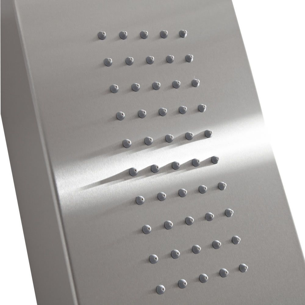 Thermostatic Shower Panel With Waterfall Head Stainless