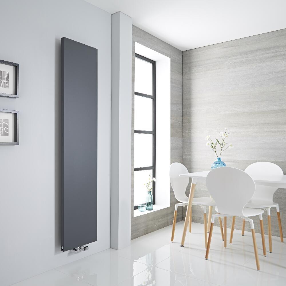 Vivara - Anthracite Vertical Flat-Panel Designer Radiator - 70.75\