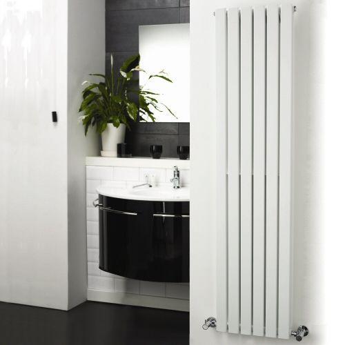 Cc Wohndesign: White Vertical Double Flat-Panel Designer