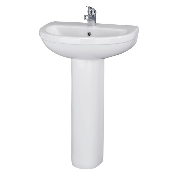 Modern Ivo Porcelain Sink and Pedestal 20""