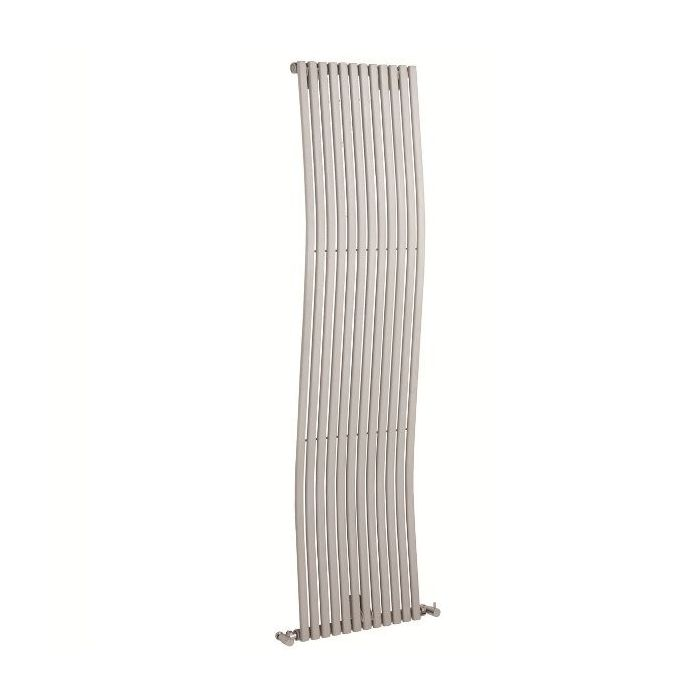 "Palero - Silver Vertical Single-Panel Designer Radiator - 63"" x 18"""