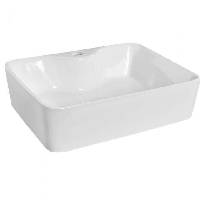 """Modern Rectangular Porcelain Vessel Sink 19"""""""