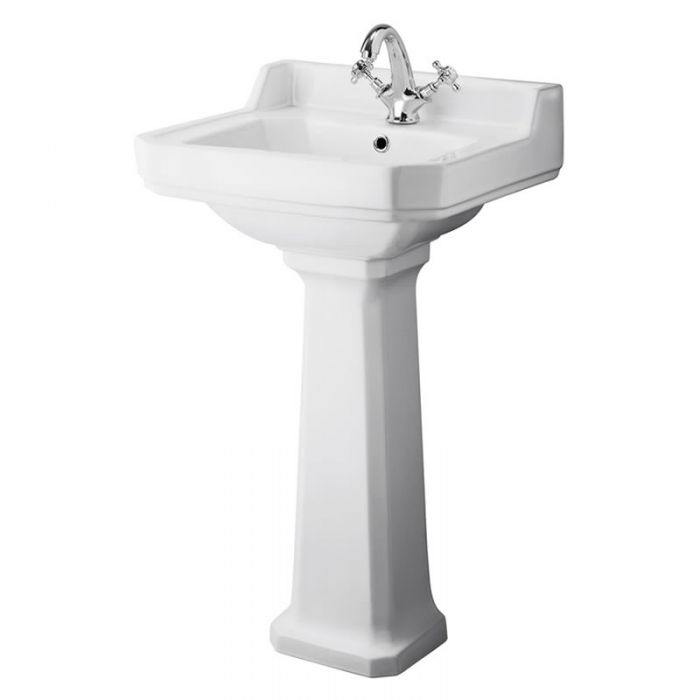 "Traditional Carlton  Porcelain Sink and Pedestal 20"""