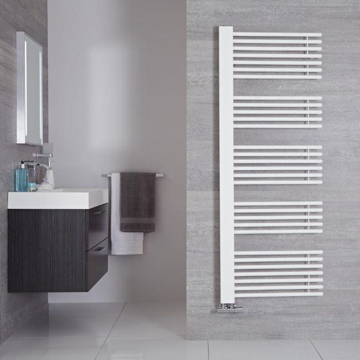 "Bosa - Mineral White Hydronic Designer Towel Warmer - 63"" x 23.5"""