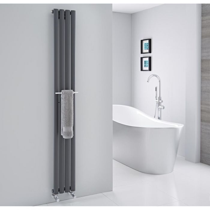 "Hudson Reed - Chrome Towel Rail for Revive Vertical Designer Radiators - 9"""