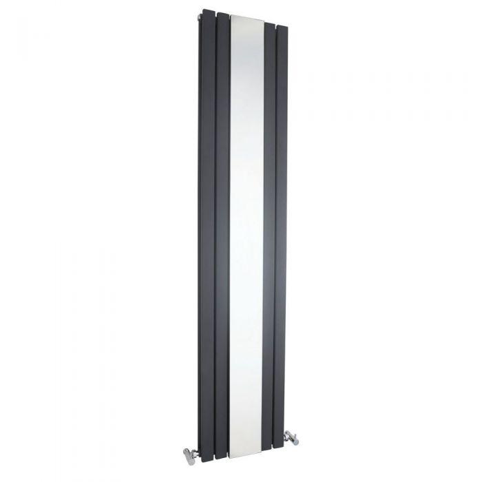 "Sloane - Anthracite Vertical Double-Panel Designer Radiator - 70.75"" x 15"""