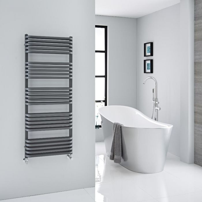"""Arch - Anthracite Hydronic Heated Towel Warmer - 50"""" x 19.75"""""""