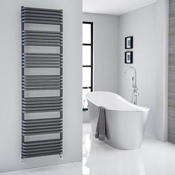 """Arch - Anthracite Hydronic Heated Towel Warmer - 70.75"""" x 19.75"""""""