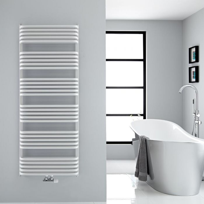 """Arch - White Hydronic Heated Towel Warmer - 60.25"""" x 23.5"""""""