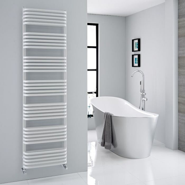"""Arch - White Hydronic Heated Towel Warmer - 70.75"""" x 19.75"""""""