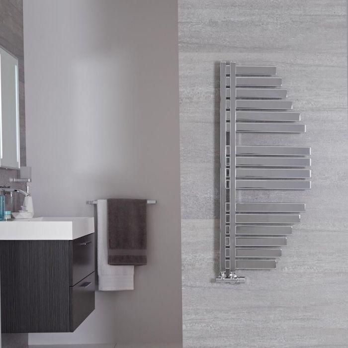 "Lazio - Chrome Hydronic Designer Towel Warmer - 43.25"" x 19"""