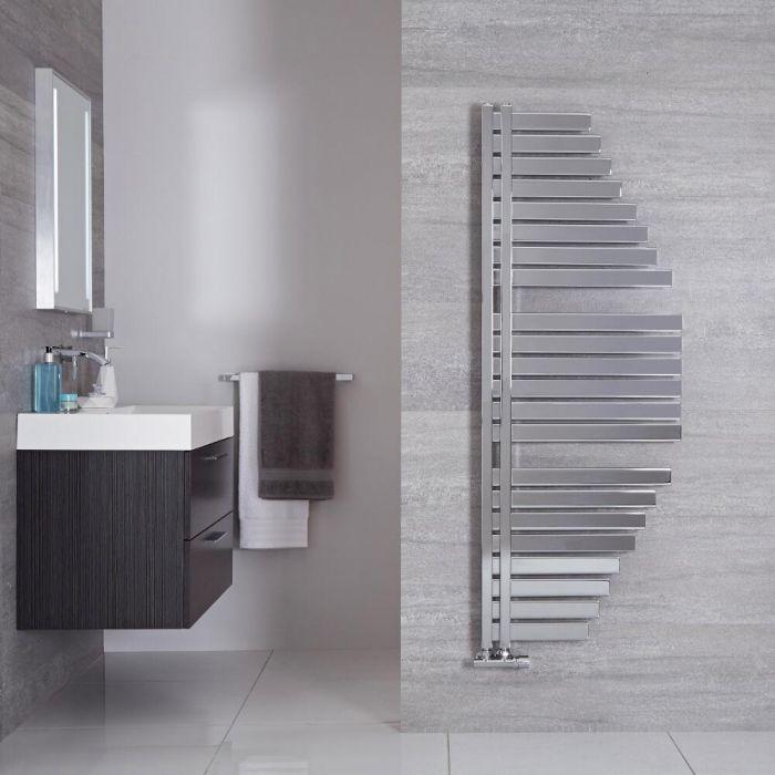 "Lazio - Chrome Hydronic Designer Towel Warmer - 57.5"" x 21.5"""