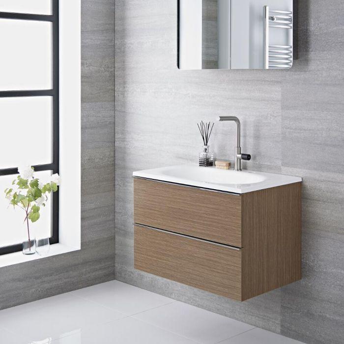 Randwick - 30'' Oak Wall-Mount Bathroom Vanity