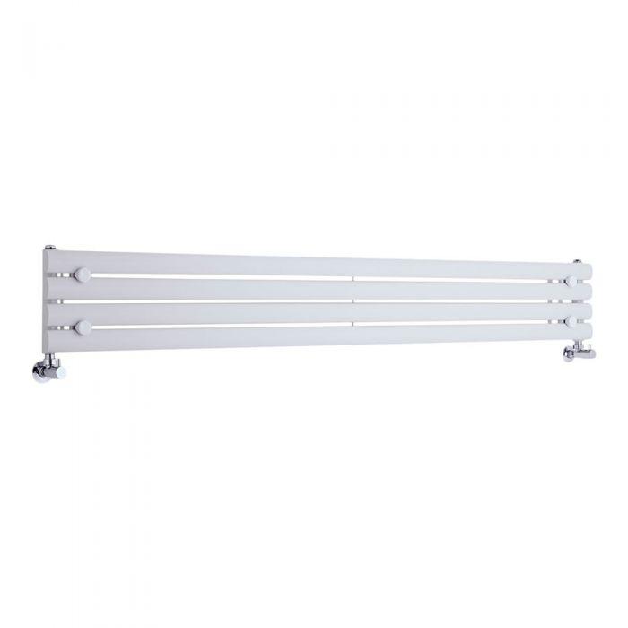"Revive - White Horizontal Single-Panel Designer Radiator - 9.25"" x 70"""