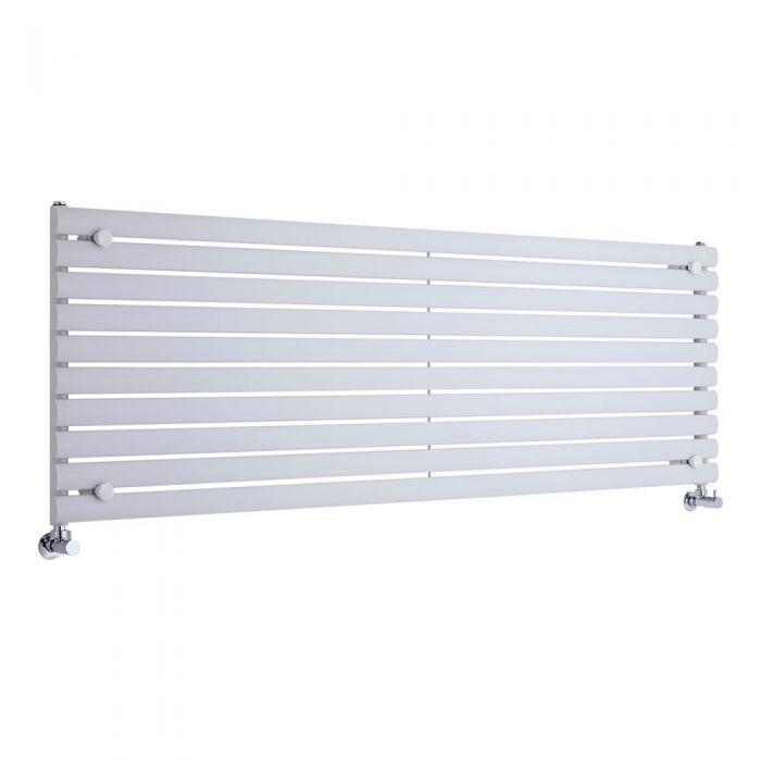 "Revive - White Horizontal Single-Panel Designer Radiator - 23.25"" x 70"""