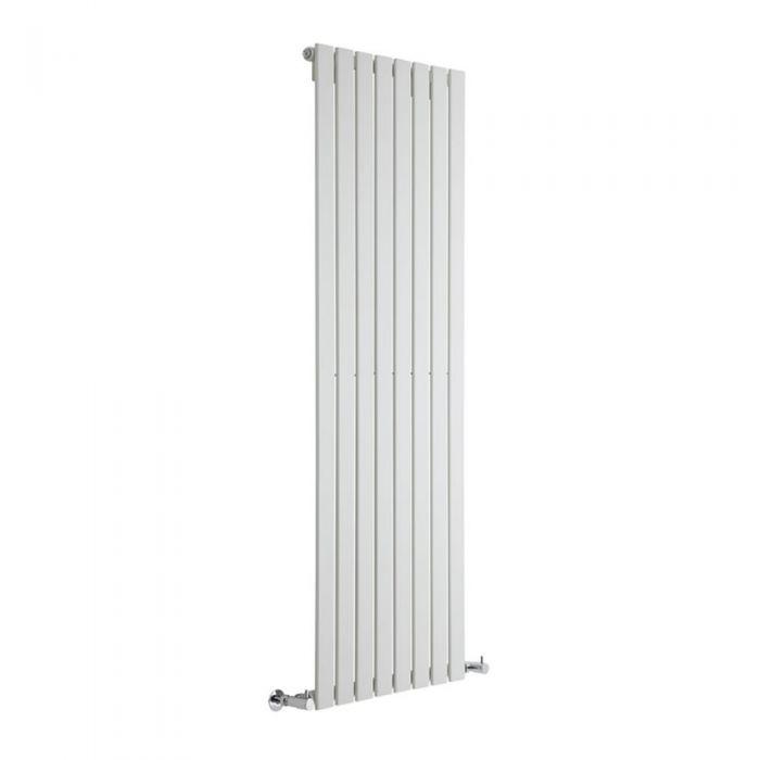 "Delta - White Vertical Single Slim-Panel Designer Radiator - 70"" x 22"""