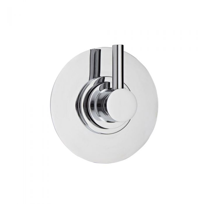 3-Way Diverter Shower Valve with Round Plate and Modern Lever Handle