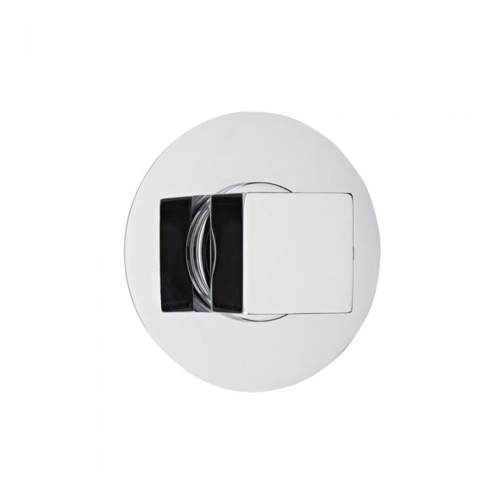 Shut-Off Shower Valve with Round Plate and Square Handle