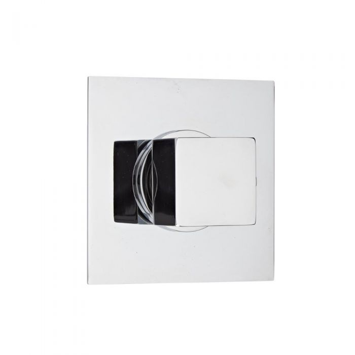 Shut-Off Shower Valve with Square Plate and Square Handle