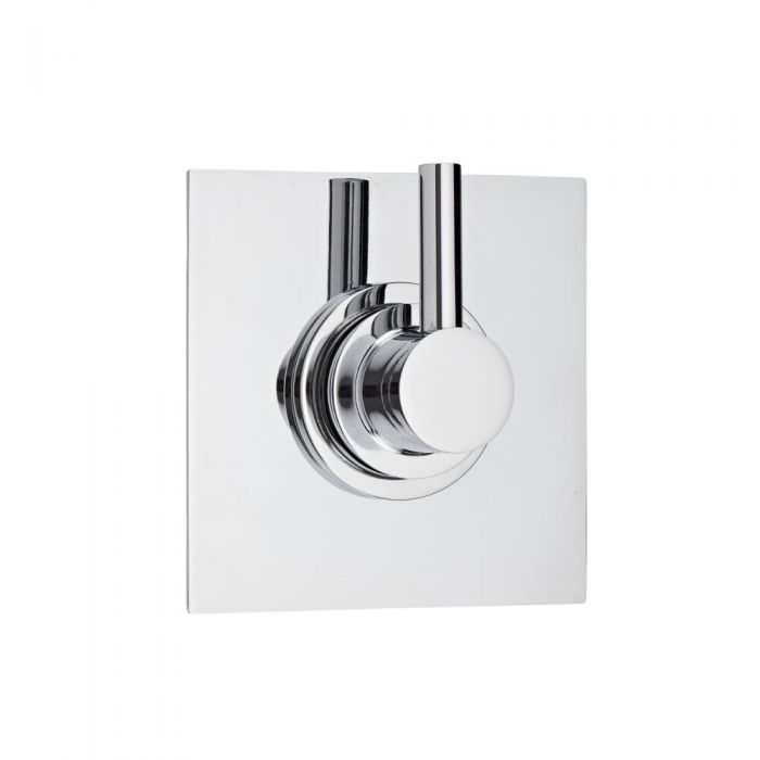 Shut-Off Shower Valve with Square Plate and Modern Lever Handle