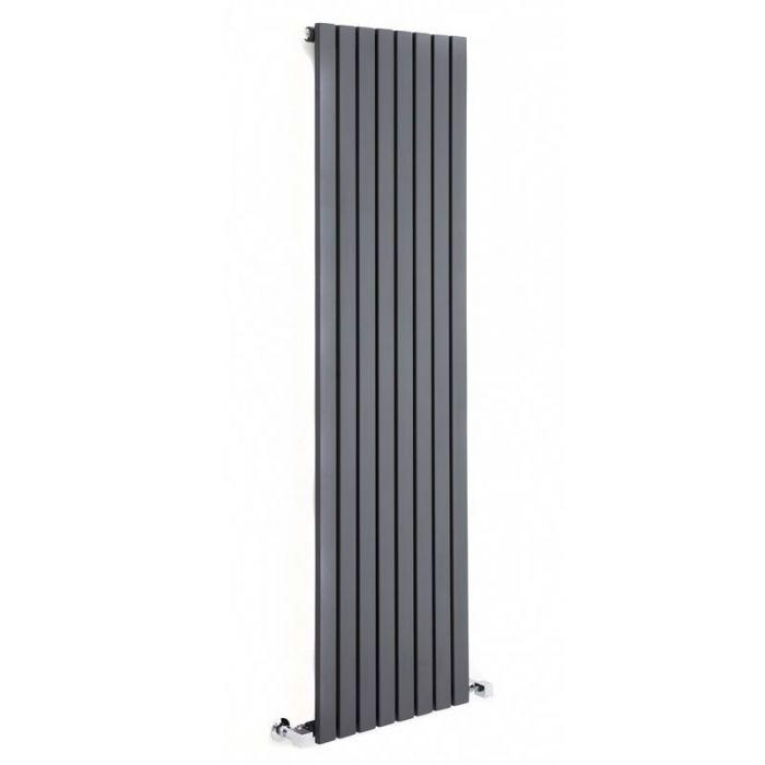 "Sloane - Anthracite Vertical Single Flat-Panel Designer Radiator - 70"" x 18.5"""