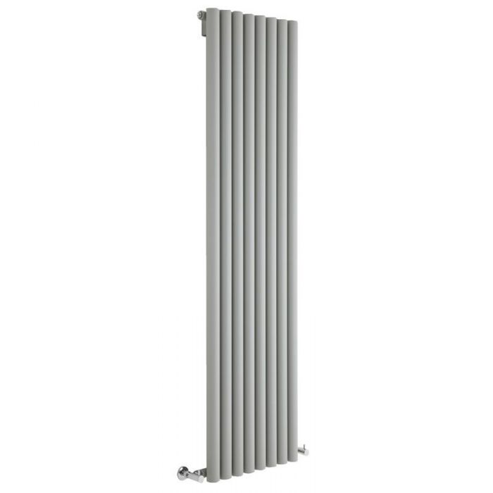 "Savy - Silver Vertical Single-Panel Designer Radiator - 70"" x 18.5"""