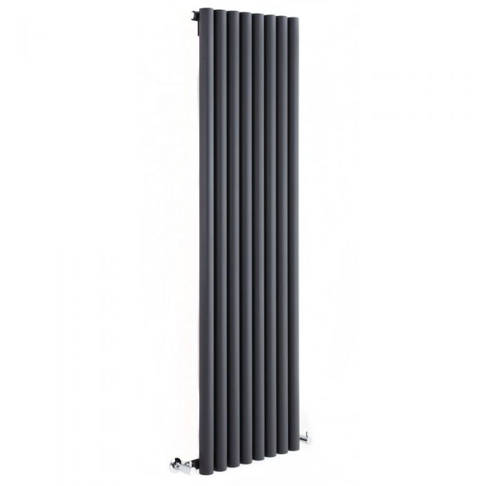 "Savy - Anthracite Vertical Single-Panel Designer Radiator - 63"" x 18.5"""