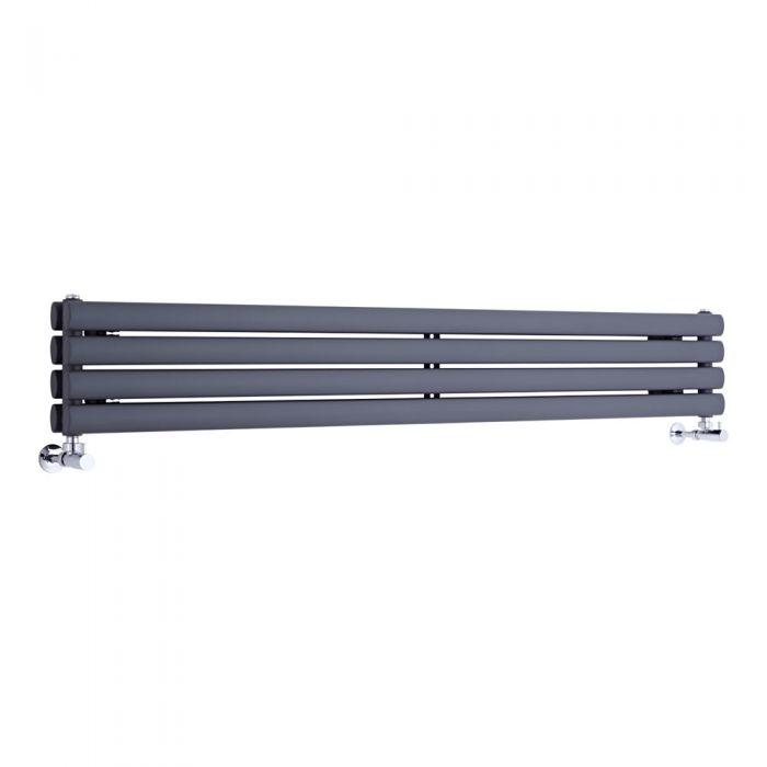 """Revive - Anthracite Horizontal Double-Panel Designer Radiator - 9.25"""" x 63"""""""