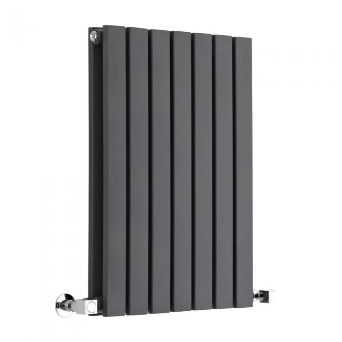 "Sloane - Anthracite Horizontal Double Flat-Panel Designer Radiator - 25"" x 16.5"""