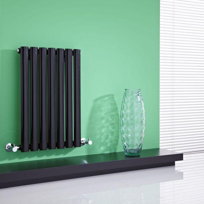 "Revive - Black Horizontal Single-Panel Designer Radiator - 25"" x 16.25"""