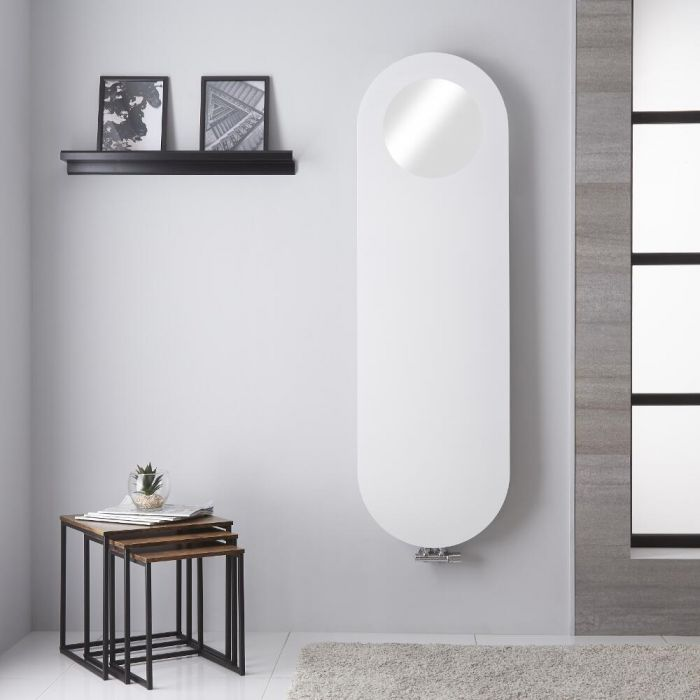 "Atrani - Mineral White Vertical Designer Radiator - 62.75"" x 19.25"""