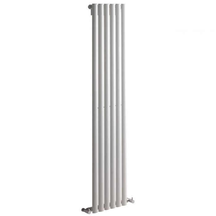"Revive - White Vertical Single-Panel Designer Radiator - 63"" x 14"""