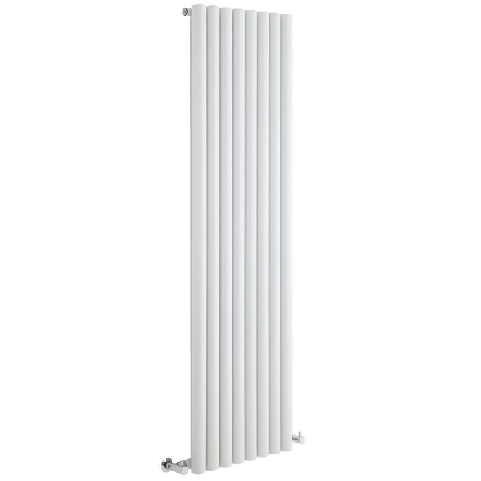 "Savy - White Vertical Single-Panel Designer Radiator - 63"" x 18.5"""